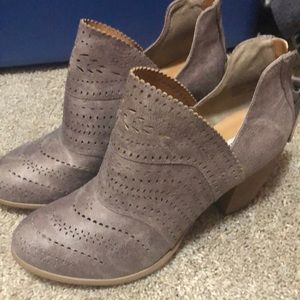 Women's Buckle Cut Out Booties